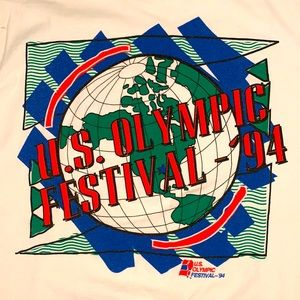 US OLYMPIC FESTIVAL White Champion Shirt XL 1994